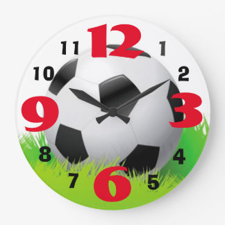 Soccer Ball Clock with Large Numbers