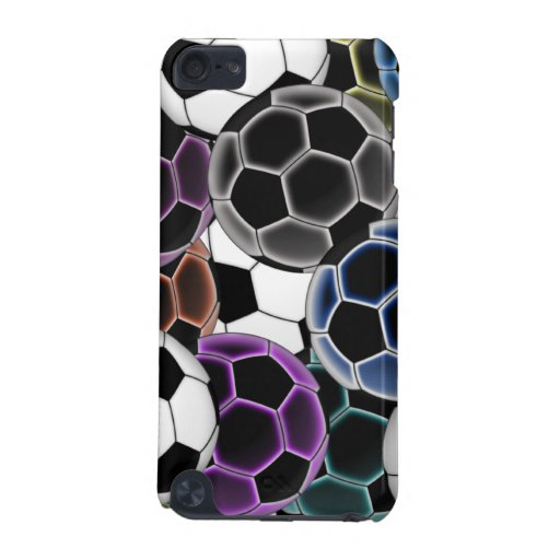 Soccer Ball Collage iPod Hard Shell Case iPod Touch (5th Generation) Cover