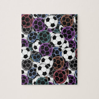 Soccer Ball Collage Jigsaw Puzzle