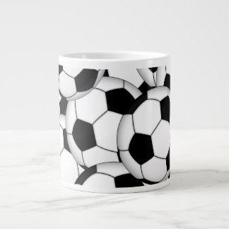 Soccer Ball Collage Jumbo Mug