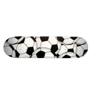 Soccer Ball Collage Skate Board Deck