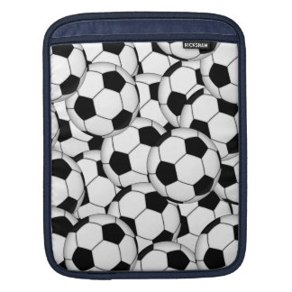 Soccer Ball Collage Sleeves For iPads
