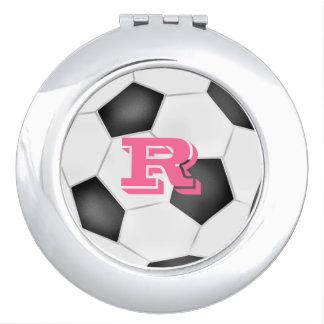 Soccer Ball Compact Mirror