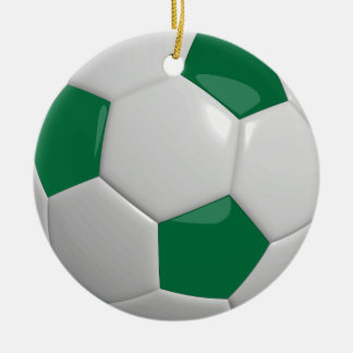 Soccer Ball | Dark Green Christmas Ornament