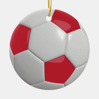 Soccer Ball | Dark Red Christmas Ornament