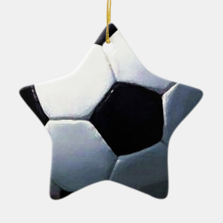 Soccer Ball Ceramic Star Decoration