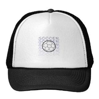 SOCCER BALL DESIGN TRUCKER HAT