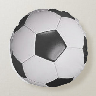 """Soccer Ball"" design gifts and products Round Cushion"
