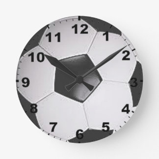 """Soccer ball"" design wall clocks"