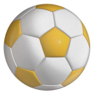 Soccer ball dinner plate