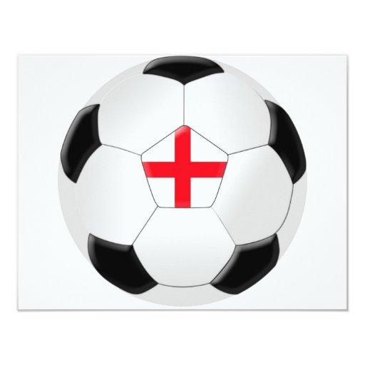 Soccer Ball – England 11 Cm X 14 Cm Invitation Card