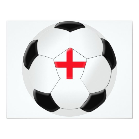Soccer Ball – England 11 Cm X 14 Cm Invitation Card