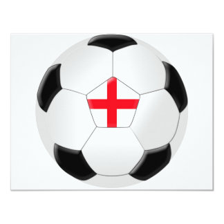 Soccer Ball – England Card