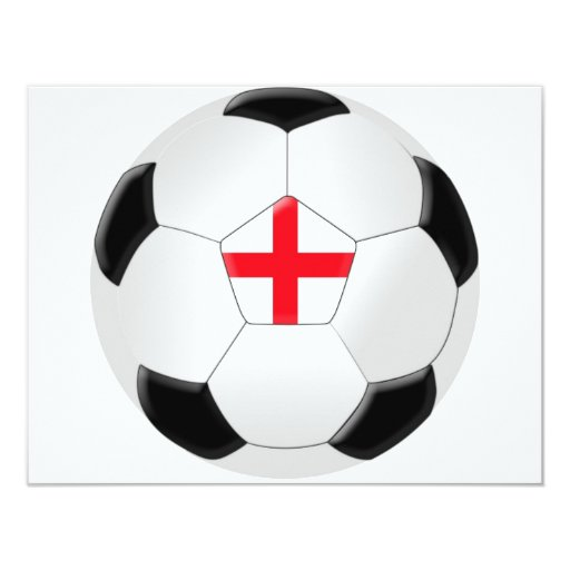 Soccer Ball – England Personalized Announcement