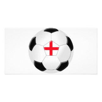 Soccer Ball – England Photo Greeting Card