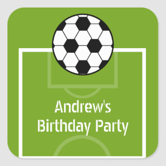 Soccer Ball & Field Birthday Party Stickers