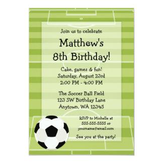 Soccer Ball Field Kids Birthday Party 13 Cm X 18 Cm Invitation Card