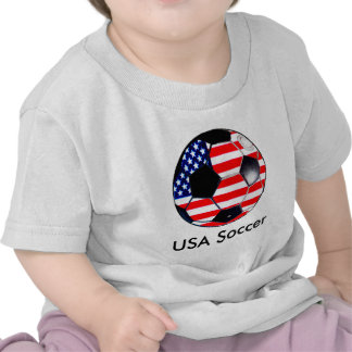 Soccer Ball Flag-USA  Soccer The MUSEUM Gifts Tees