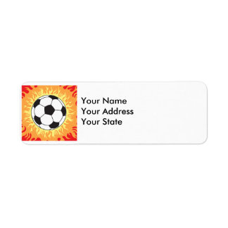soccer ball flames design