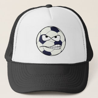 Soccer Ball (Football) Angry Face Trucker's Hat