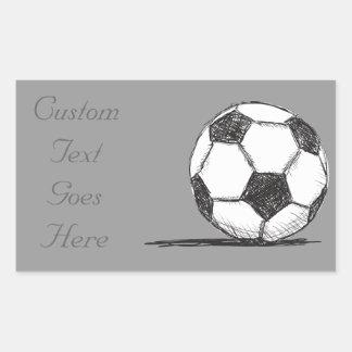Soccer Ball, Football, Fussball, Team Sport Rectangular Sticker