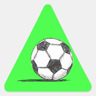 Soccer Ball, Football, Fussball, Team Sport Triangle Sticker
