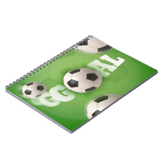 Soccer Ball Football Goal - Notebook