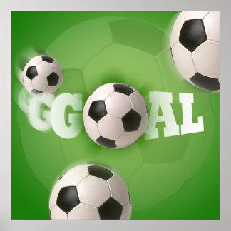 Soccer Ball Football Goal - Poster