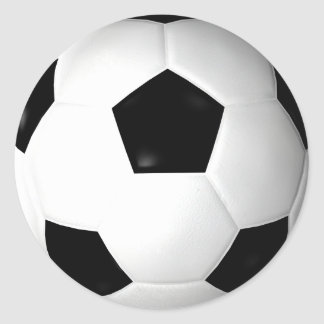 Soccer Ball ( football ) Round Sticker