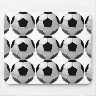 soccer ball for athletic man and football fun. mouse pad