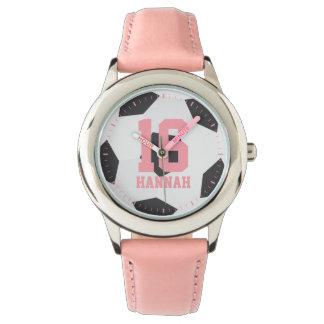 Soccer Ball Girl's Wrist Watch