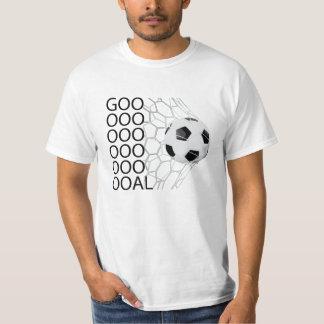 Soccer Ball Goal Mens Graphic Sports Tee Shirt
