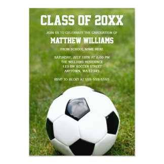 Soccer Ball Graduation Party Announcement