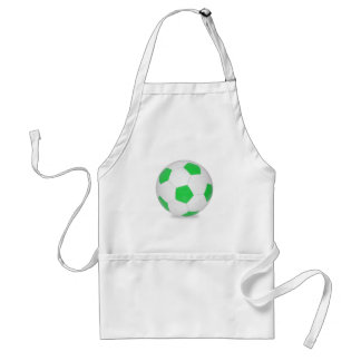 Soccer ball green adult apron