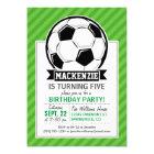 Soccer Ball; Green Stripes Card