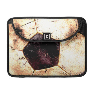 Soccer Ball Grunge Style Sleeve For MacBooks