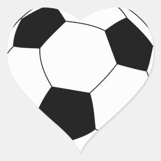 Soccer Ball Heart Sticker