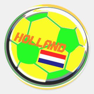 Soccer Ball Holland Round Sticker