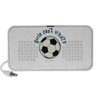 Soccer Ball in Black Travel Speakers