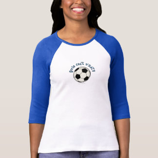 Soccer Ball in Black T-Shirt