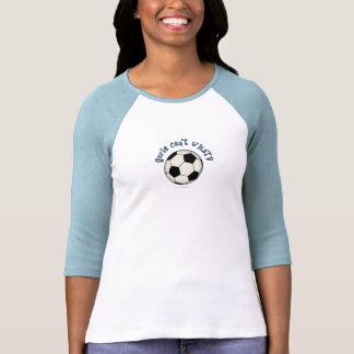Soccer Ball in Black T Shirt