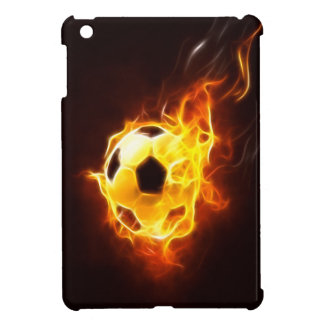 Soccer Ball in Flames iPad Mini Case