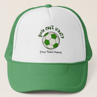 Soccer Ball in Green Trucker Hat