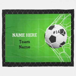 Soccer Ball in Net Fleece Blanket