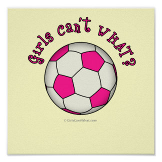 Soccer Ball in Pink Poster