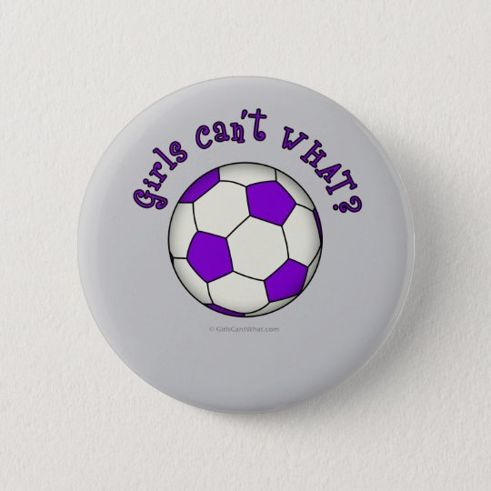 Soccer Ball in Purple 6 Cm Round Badge