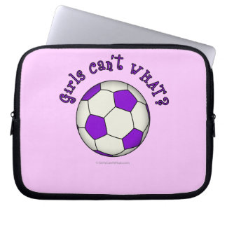 Soccer Ball in Purple Laptop Sleeve