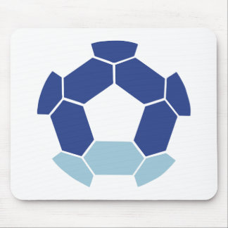 Soccer ball in reverse mouse pad