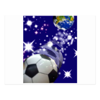 Soccer Ball in the infinity Postcard