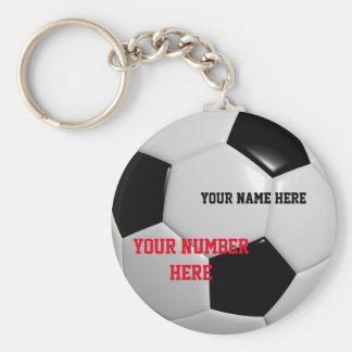 Soccer Ball Keychain Customize Your Name ID Tag
